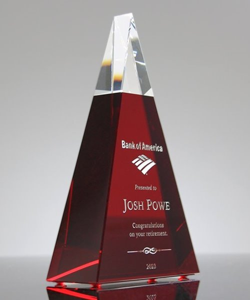 Picture of Exemplary Red Crystal Award
