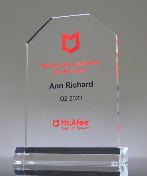 Picture of Clear Acrylic Tombstone Trophy