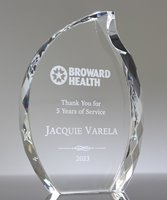 Picture of Crystal Faceted Flame Award