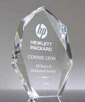 Picture of Faceted Crystal Peak Award