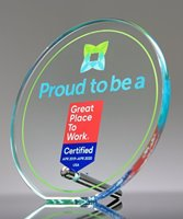 Picture of UV Printed Glass Circle Award