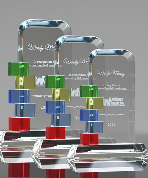 Picture of Blocks of Success Crystal Award