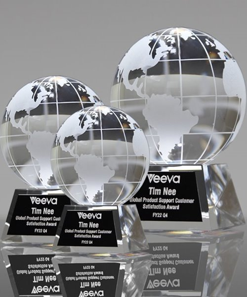 Picture of Globe Crystal Award
