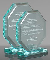 Picture of Beveled Octagon Acrylic Award