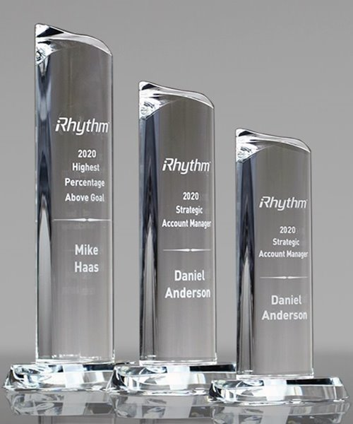 Picture of Goal Achievement Crystal Tower Awards