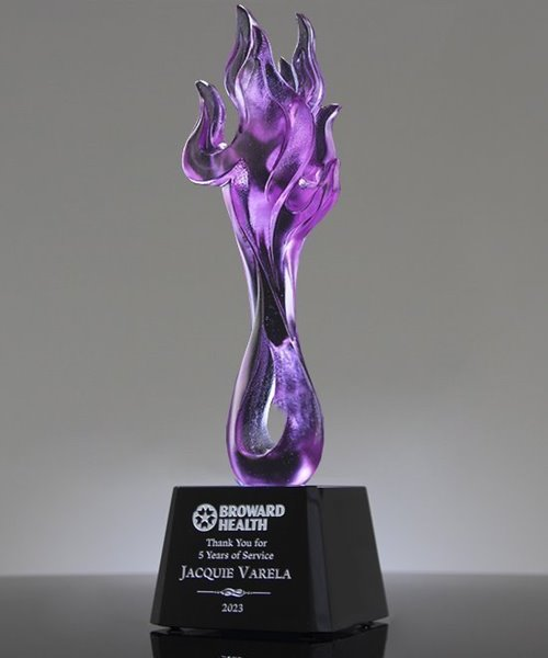 Picture of Vulko Flame Art Crystal