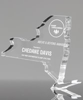Picture of Clear Acrylic New York State Award
