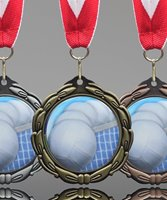 Picture of Epoxy-Domed Volleyball Medal