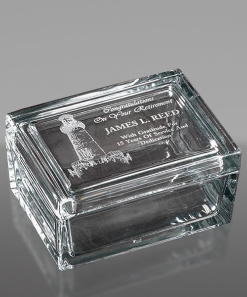 Picture of Glass Trinket Box