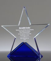 Picture of Laser Engraved Crystal Star Award