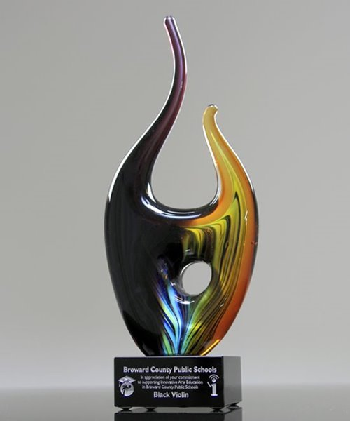 Picture of Art Glass Flame Award