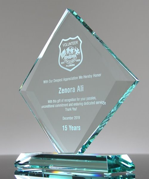 Picture of Beveled Gem Glass Award