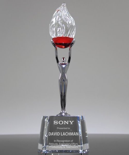 Picture of Ruby Flame Crystal Award