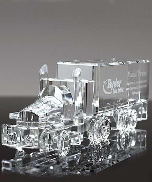 Picture of Crystal Semi Truck Driver Award