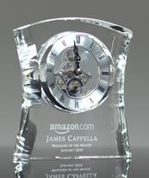 Picture of Custom Engraved Crystal Gift Clock