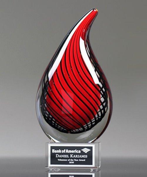 Picture of Crimson Trend Art Glass