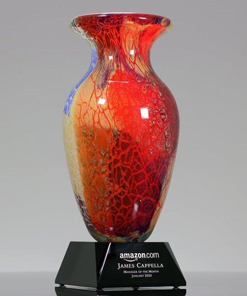 Picture of Chameleon Art Glass Trophy Vase