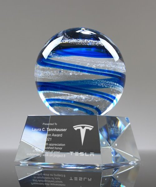Picture of Ocean Globe Crystal Award