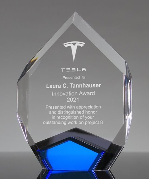 Picture of Ambient Blue Acrylic Diamond Trophy