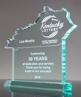 Picture of Kentucky Acrylic State Shape Trophy