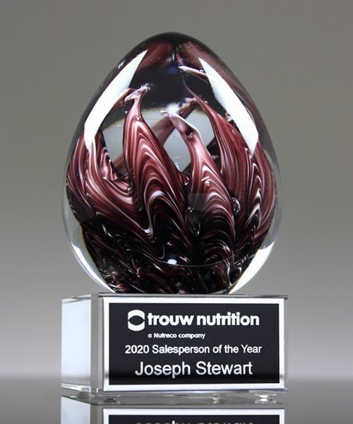 Picture of Mauve Immerse Art Glass Award