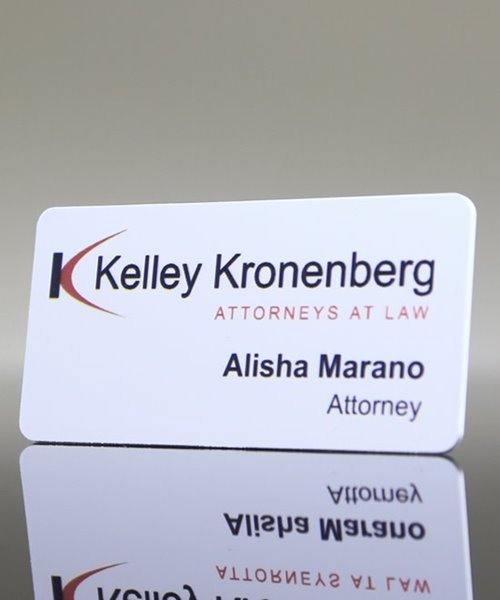 Picture of White Digital Name Badge