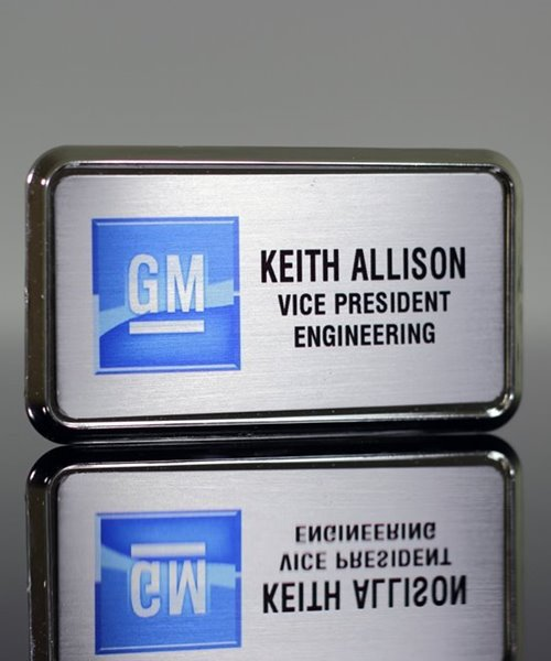Picture of Silver Framed Name Badge