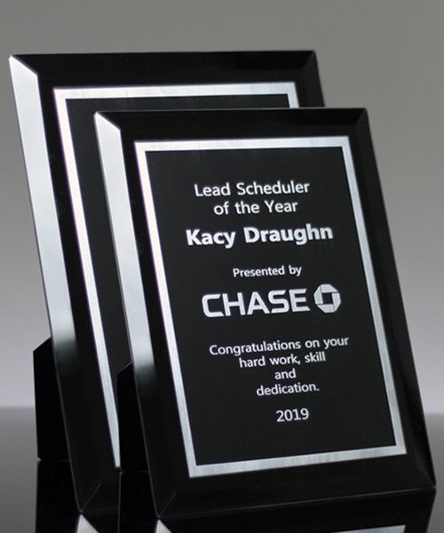 Picture of Black Glass Plaque
