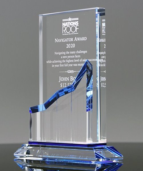 Picture of Crystal Goal Buster Award Plaque