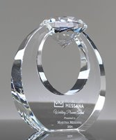 Picture of Clear Crystal Diamond Circle Award