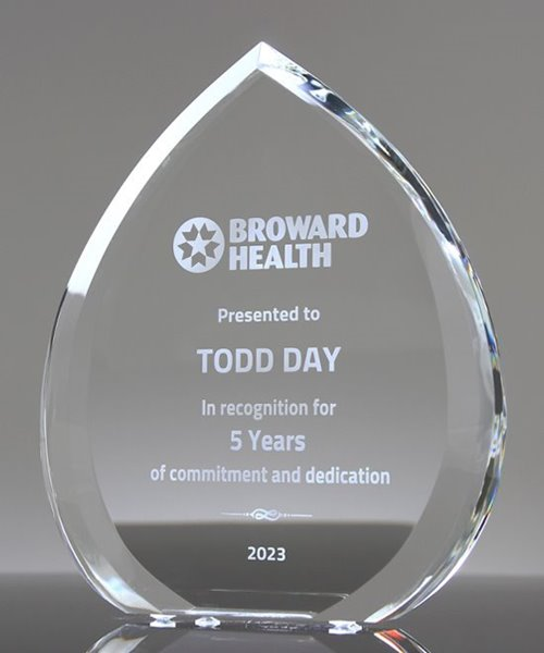 Picture of Beveled Crystal Droplet Award