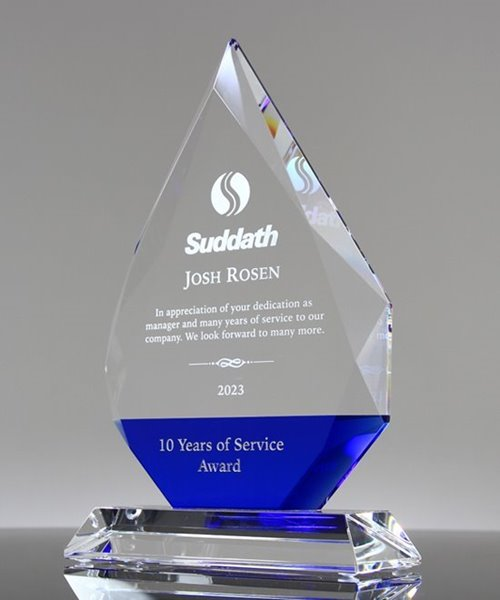 Picture of Beveled Crystal Diamond Award