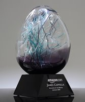 Picture of Employee Recognition Purple Art Glass Award
