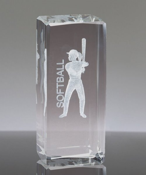 Picture of Softball 3-D Sports Crystal