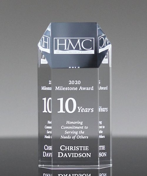 Picture of Acrylic Hexagon Tower Award