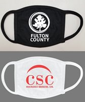 Picture of Soft Cotton 1-Color Logo Face Mask