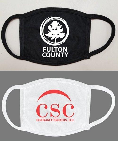 Picture of Soft Cotton 1-Color Logo Face Mask