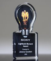 Picture of Light Bulb Moment Acrylic Award