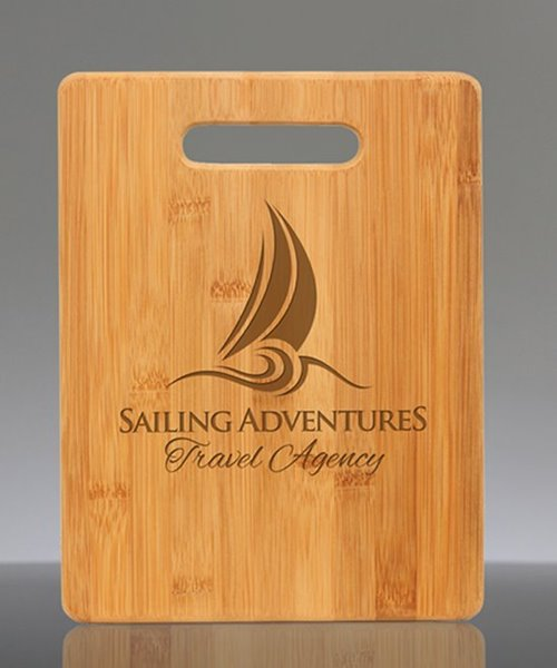 Picture of Laser Engraved Bamboo Rectangle Cutting Board