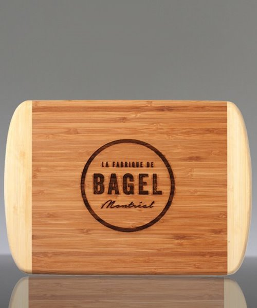 Picture of Laser Engraved Bamboo Two Tone Cutting Board