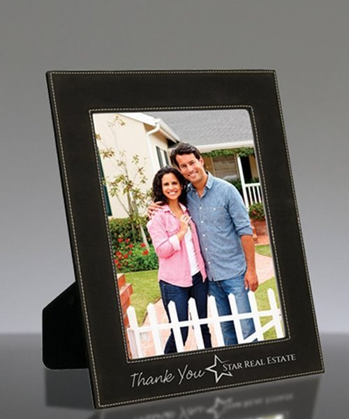 Picture of Black Leatherette Photo Frame