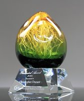 Picture of Amber Orb Art Glass Award