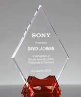 Picture of Ruby Diamond Acrylic Award