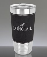 Picture of Personalized 20 oz. Stainless Leatherette Polar Camel Tumbler in Black