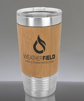 Picture of Personalized 20 oz. Stainless Leatherette Polar Camel Tumbler in Bamboo