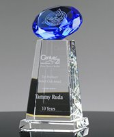 Picture of Diamond Sphere Blue Crystal Award