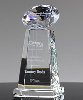 Picture of Diamond Sphere Clear Crystal Award