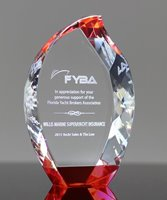 Picture of Diamond Edge Flame Red Crystal Award