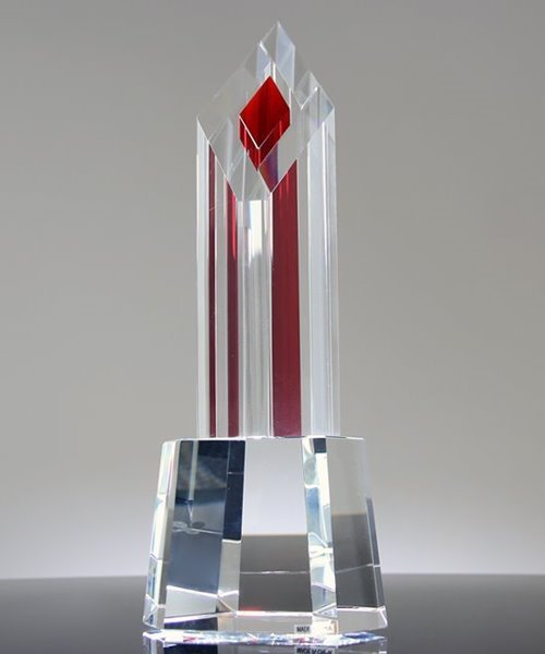 Picture of Crystal Pinnacle Award Red Tower