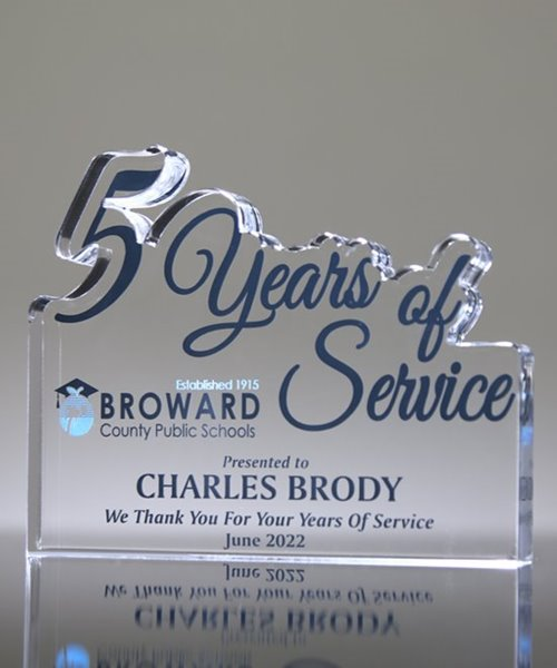 Picture of 5 Years of Service Acrylic Award